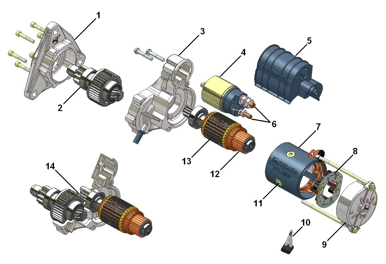 Схема стартера в автомобиле